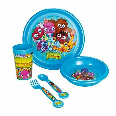 Moshi Monsters 5 Piece Kids Tableware Set - Bowl, Plate, Tumbler, Knife, Spoon