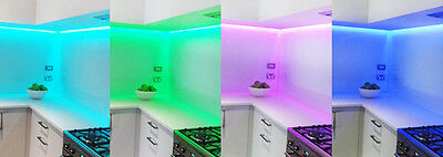 Stagg LED 3m RGB Tape Under Counter Kitchen Cupboard Light Multi Colour inc PSU