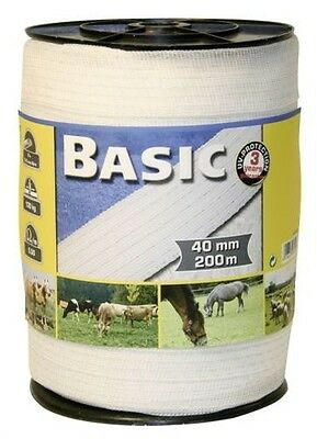 Corral Basic Fencing Tape 200M X 40Mm Equine Horse Fencing