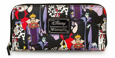 Disney Villains Wallet Loungefly Licensed  NEW RELEASE Maleficent Ursula NEW