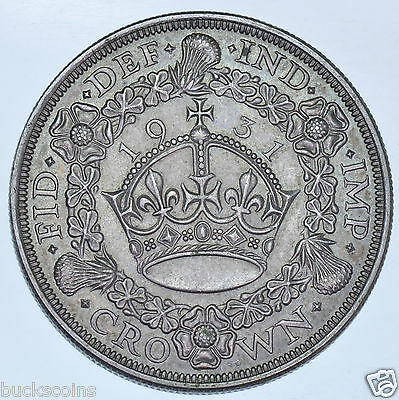 Rare 1931 Wreath Crown British Silver Coin George V [Only 4056 Struck]