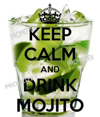t shirt bianca kepp calm and drink mojito estate spiaggia divertenti