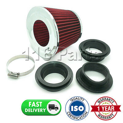 Sports Performance Fits 99% Cars Red & Chrome Universal Induction Air Filter
