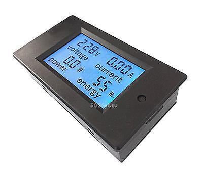 AC80~260V20A 4 in 1 LCD Digital Combo Panel Meter Volt Amp Power Watt Hour
