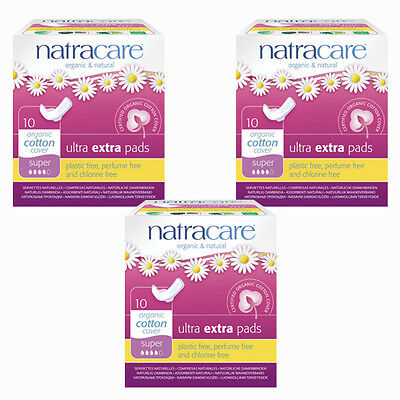 Natracare Organic Sanitary Towels: Ultra Extra Pads, Winged Super X 3