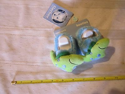 New Gerber Single Pack Booties in Blue & Green Size 0-6 Months Baby Cute shoes