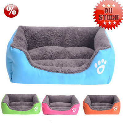 Dog Puppy Cat Teddy Pet Bed House Winter Soft Warm Comfy Fabric