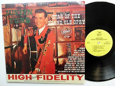 JUSTIN TUBB Star of the Grand Ole Opry LP Country REISSUE Near-MINT vinyl