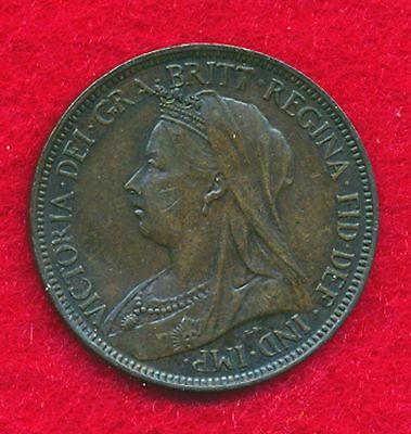 Great Britain 1896 1/2 PENNY  (Bronze)