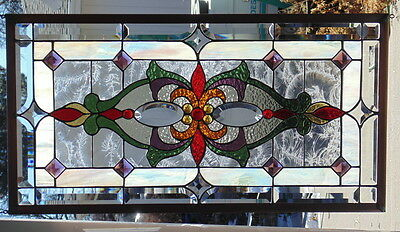 """Stained Glass Window Hanging 30 1/2 X 16"""""""