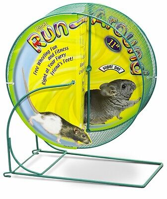 Super Pet Run-Around Wheel Giant 11in Diameter Free Wheeling Fun Chinchillas Rat