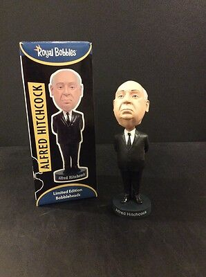 """ALFRED HITCHCOCK Limited Edition Bobblehead Royal Bobbles 8""""  Psycho Suspense"""
