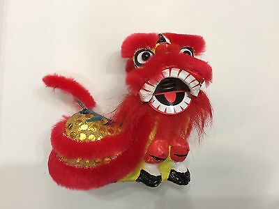 Bouncing Chinese New Year Lion Dragon Head Dance Red