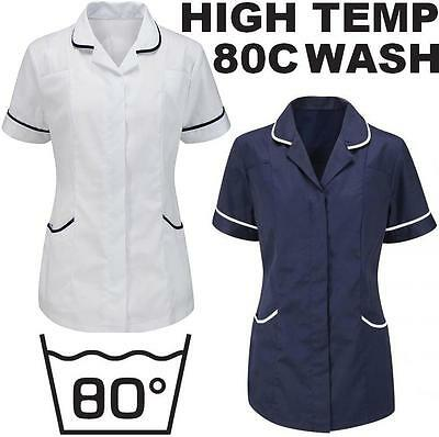Womens Tunic Nurses Uniform Vet Salon Beauty Medical Dental Therapist Healthcare
