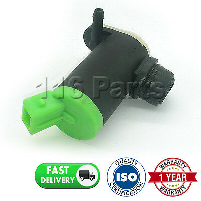 For Peugeot 206 (1998-2015) Front & Rear Twin Outlet Windscreen Washer Pump
