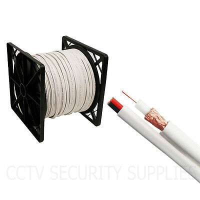 New 500 FT SIAMESE WHITE CABLE RG59 RG59U VIDEO POWER SECURITY CAMERA WIRE CCTV