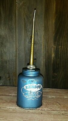 Blue Vintage Rainbow Pump Oiler Eagle Manufacturing Co, USA