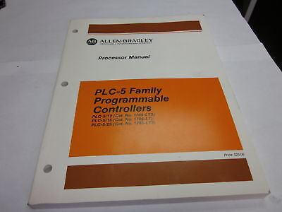 Allen Bradley PLC-5 Prog. Controller Processor Manual, Used