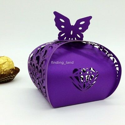 25/50/100 pcs Elegant Wedding Favours Sweets Cake Candy Gift Boxes - Love #11