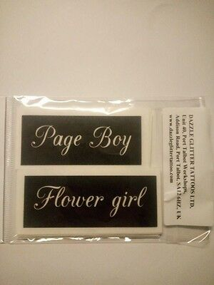 Flower girl & Page boy stencil for etching on glass hobby craft present wedding