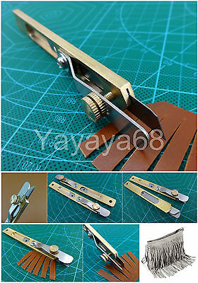 1pc Leather Line Strip Knife Copper Trimming Knife Positioning Cutter Craft Tool