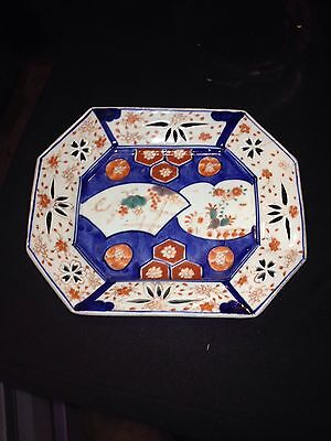 "Early 9 1/2"" Reticulated Japanese Imari Tray"