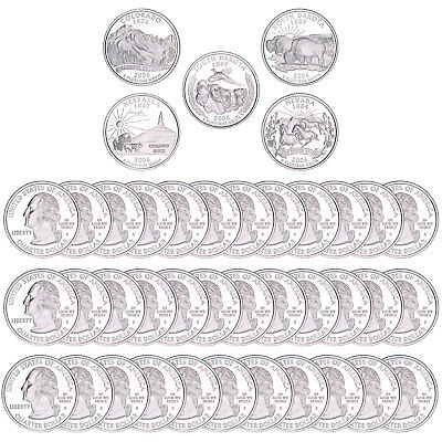 2006 S State Quarter Roll Gem Deep Cameo 90% Silver Proof 40 US Coins
