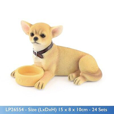 chihuahua smoothcoat ornament figurine collectable leonardo collection gift bowl