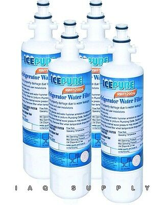 4-Pack IcePure RFC-1200A Replacement Water Filter LG LT700P Kenmore 46 9690