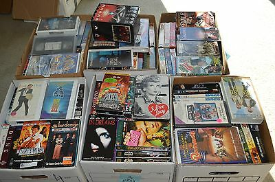 Lot of 10 VHS CLASSIC, HORROR,THRILLER, COMEDY -Pick from 200 + !!