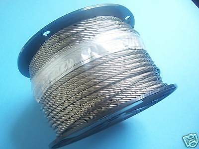 "304 Stainless Steel Wire Rope Cable, 1/4"", 7x19, 150 ft"