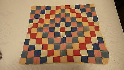 """Antique PIECED PILLOW COVER Just Bigger than a Postage Stamp 16""""x18"""""""
