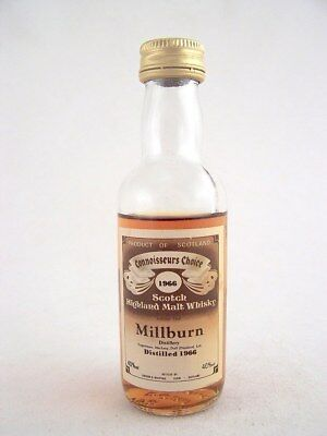 Miniature dated 1966 MILLBURN MALT WHISKY Isle of Wine