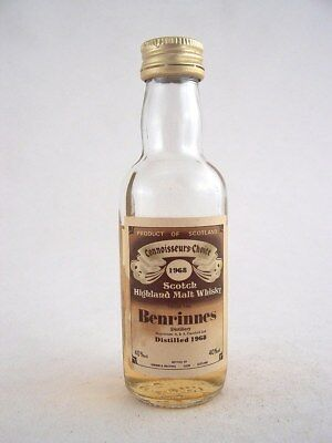 Miniature dated 1968 BENRINNES MALT WHISKY Isle of Wine
