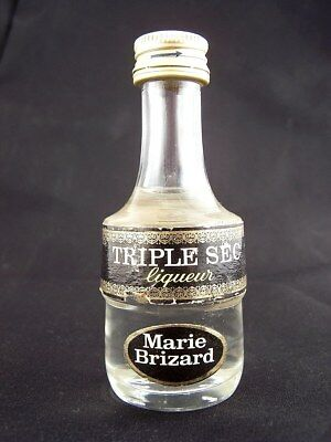 Miniature circa 1975 MARIE BRIZARD TRIPLE SEC Liqueur Isle of Wine