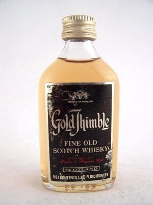 Miniature circa 1972 GOLD THIMBLE SCOTCH WHISKY Isle of Wine