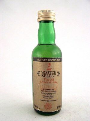 Miniature circa 1980 SCOTCH SELECT WHISKY Isle of Wine