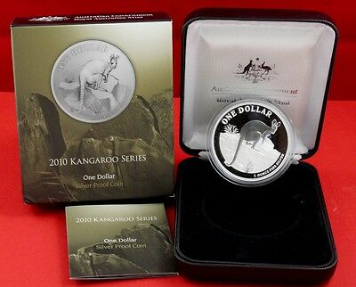 "$ 1 Silver Kangaroo "" Yellow-Footed Rock-Wallaby "" Proof Coin 2010"