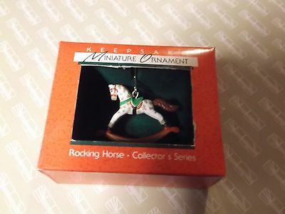 Hallmark Miniature Ornament First Series Rocking Horse 1988 Great Condition
