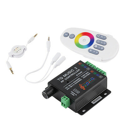 Sound Audio LED RGB RF Music Controller Touch Remote 2 Channel 12/24V 18A GT