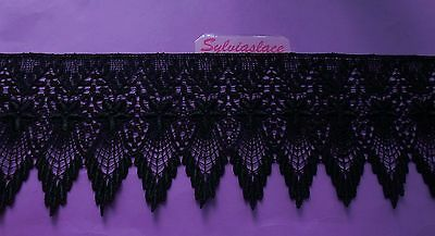 2 metres of Stunning Black or White Guipure Lace 9.50 cm wide