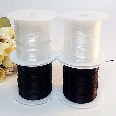 2Rolls Elastic Stretchy Beading Thread Cord Bracelet String Jewelry Making