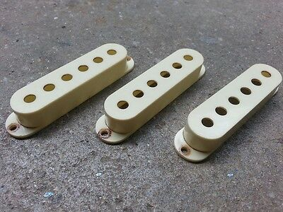 Aged Set of 3 Pickup Covers For Stratocaster  Strat  - Mint Green