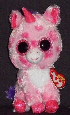 "TY BEANIE BOOS - SUGAR PIE the 6"" UNICORN - MINT with MINT TAGS"