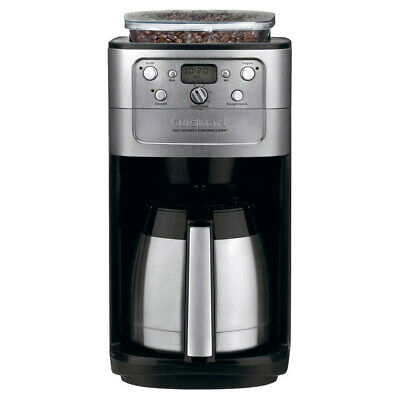 Cuisinart Burr Grind & Brew Thermal 12-Cup Automatic Coffeemaker, Silver/Black