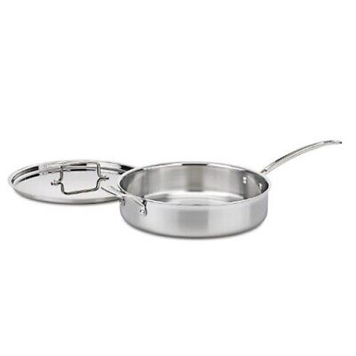 Cuisinart MCP33-30HN MultiClad Pro Stainless 5.5-Quart Saute w/ Helper and Cover