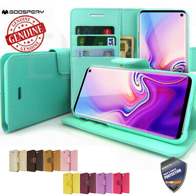 GOOSPERY® Flip Leather Wallet Case Book cover for iPhone XR Galaxy S10+ S9 Note9