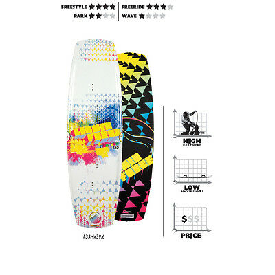 Liquide Force TANTRUM Kiteboard 133 cm,avec COMP Dentelle Sangle/Pad