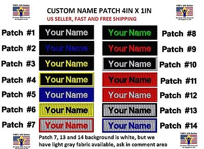 """**LOVE IT OR IT'S FREE** Custom NAME TAG Embroidered """"Iron on"""", Free Shipping"""