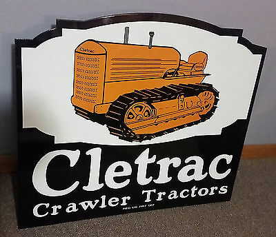 Cletrac Crawler Double Sided Flanged Sign